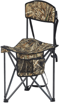 PORTAL XL Quick Folding Tripod Stool with Backrest